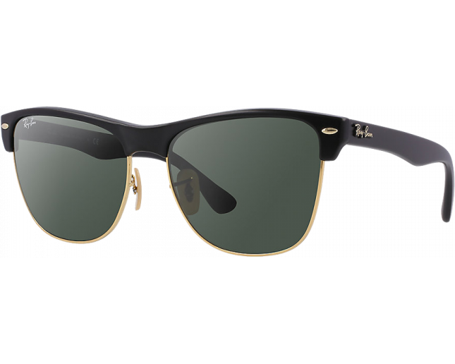 cc9264aded Ray-Ban Clubmaster Oversized Demi Shiny Black Arista Crystal Green - RB4175  877 - Sunglasses - IceOptic
