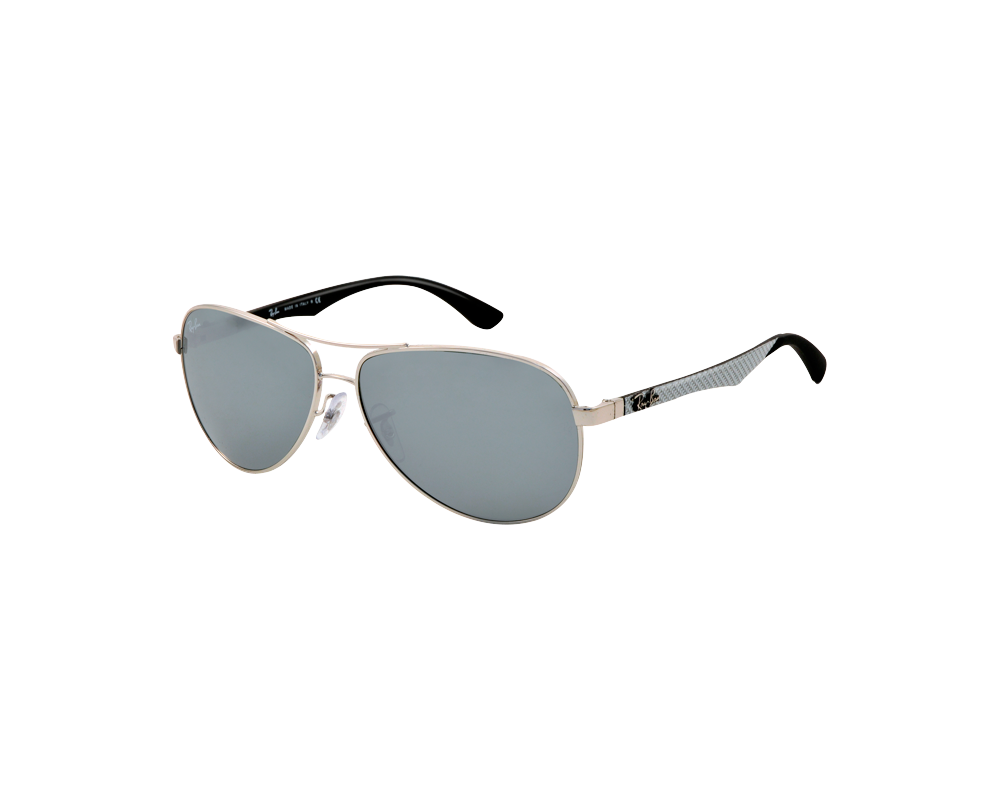 81cf2144eb9 Ray-Ban Aviator Tech Carbon Fibre Silver Crystal Grey Mirror - RB8313  003 40 - Sunglasses - IceOptic
