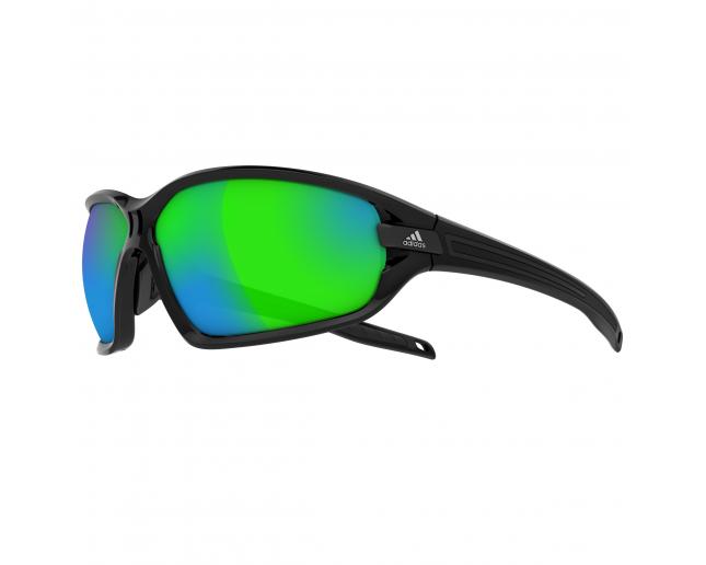 acdda15b635 Adidas Evil Eye Evo L Black Shiny Black Grey Green Mirror H - A418 00 6050  - Sunglasses - IceOptic