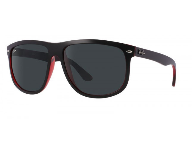 1a67e9a734720 Ray-Ban Hightstreet Top Mat Black On Red Transparent Dark Grey - RB4147  6171 87 ICE - Sunglasses - IceOptic
