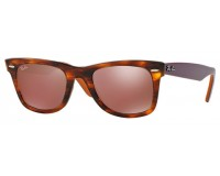 Ray-Ban Wayfarer Striped Havana Brown Mirror Dark Red