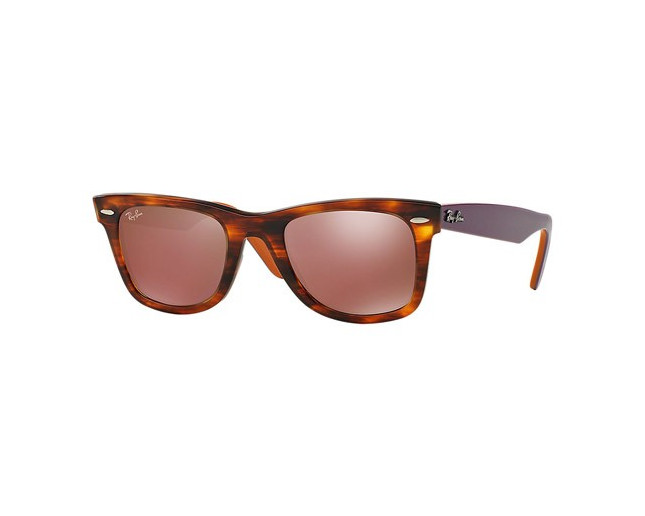 8a5d8781c ... wholesale ray ban wayfarer striped havana brown mirror dark red c5b69  063cb