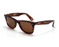 Ray-Ban Wayfarer Stripped Havana Effect Aged Brown
