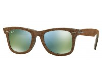 Ray-Ban Wayfarer Top Osaka Brown On Jeans Grey Green Mirror Green