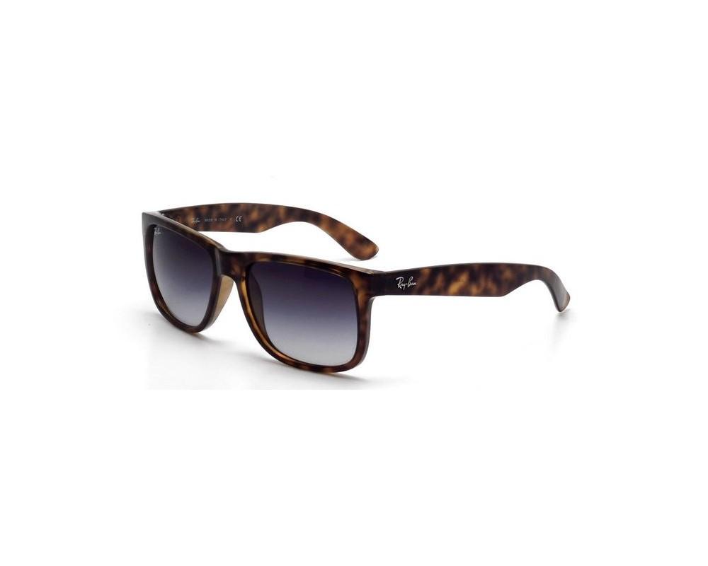 58561f44d4 Ray-Ban Justin Shiny Havana Grey Gradient Dark Grey - RB4165 710 8G -  Sunglasses - IceOptic