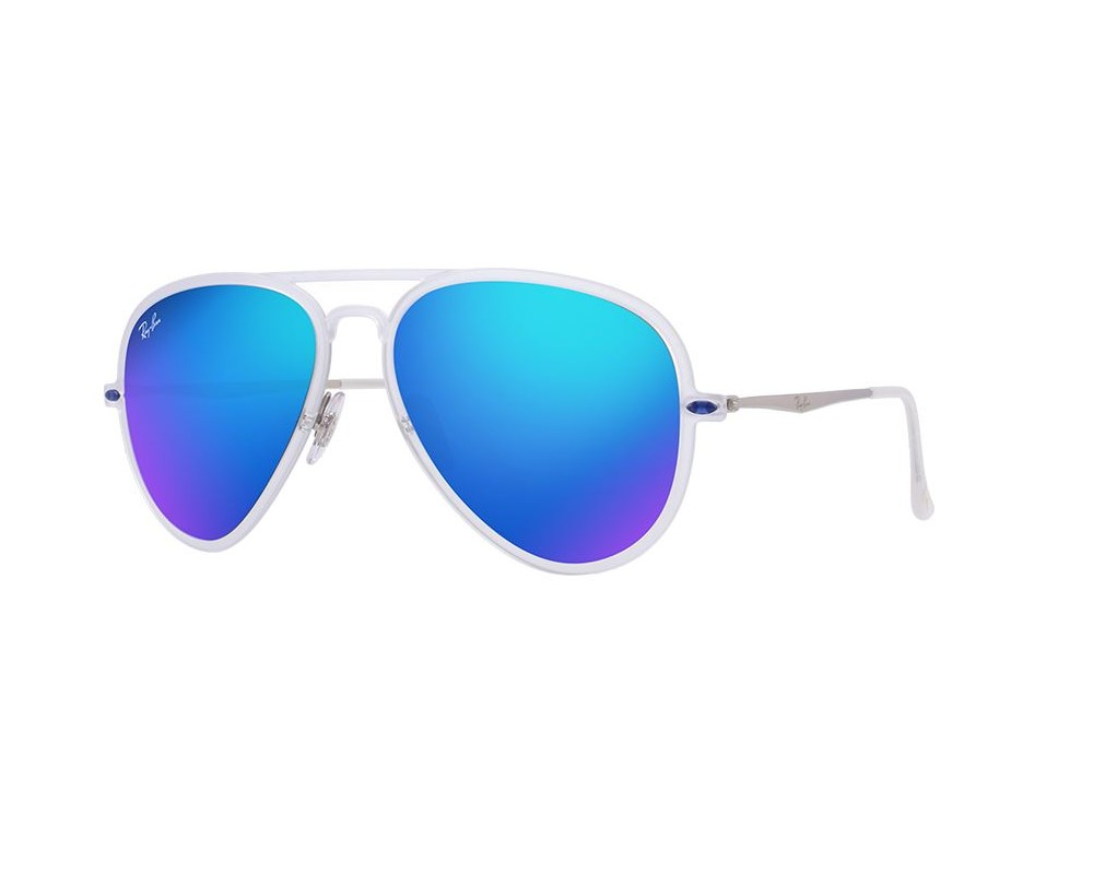 Ray-Ban Aviator Light Ray II Transparent Mat Vert Miroité HOchhR2p