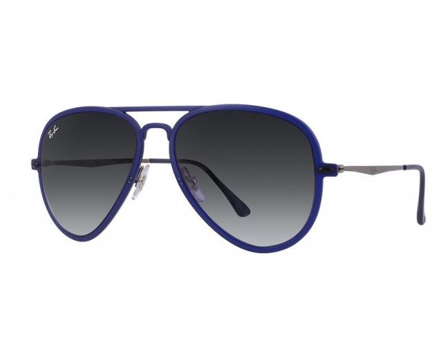 Ray Ban Aviator Light Ray Ii Matte Dark Blue Gradient Grey