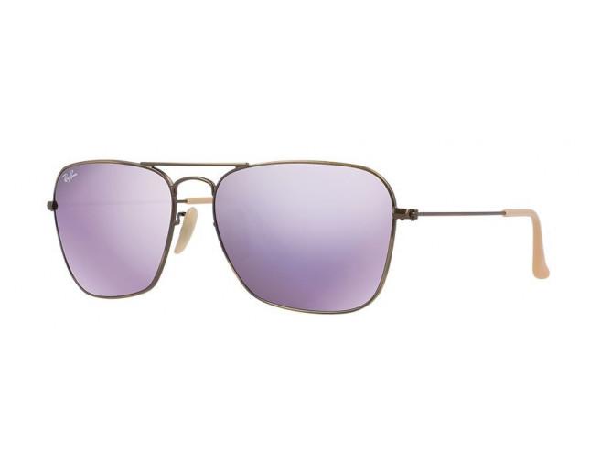 8e044c15cd1a Ray-Ban Caravan Flash Lenses Demiglos Brushed Bronze - RB3136 167 4K ICE -  Sunglasses - IceOptic
