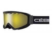 Cébé Masque de Ski Infinity OTG Porteurs de Lunettes Black Yellow Flash Mirror