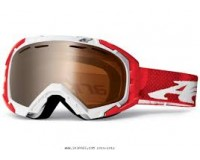 Arnette Mercenary White Red Zine w/Shadow Chrome