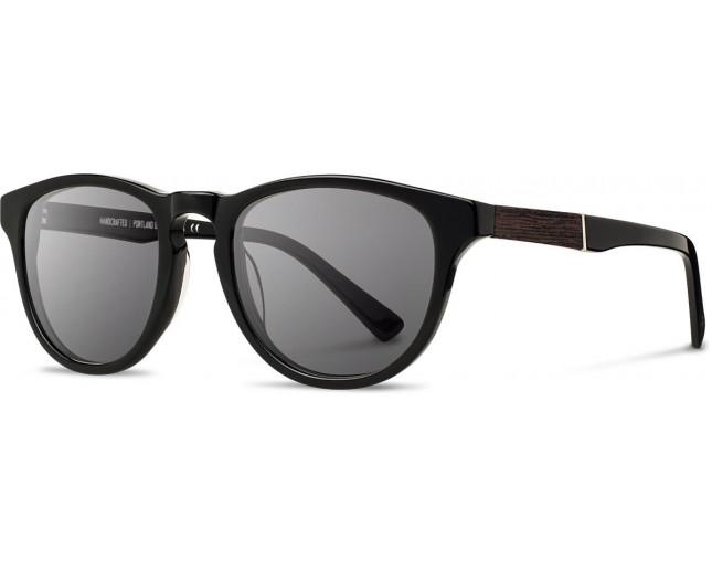 d5bb3875559b88 Shwood Acetate Francis Black Ebony-Grey - WAFBEG - Sunglasses - IceOptic