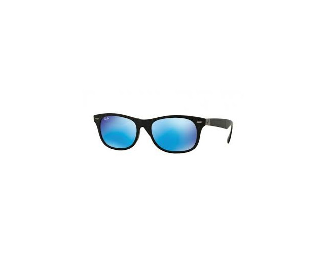 325e14ee38 Ray Ban New Wayfarer Liteforce Folding Matte Black Plastic Light Green  Mirror Blue - RB4223 601S 55 ICE - Sunglasses - IceOptic