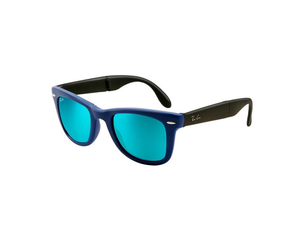 6554ceea0b3 ... get ray ban wayfarer pliante flash lenses matte blue crystal green  mirror blue cc6b1 8635a get ray ban aviator flash lens rb3025 ...