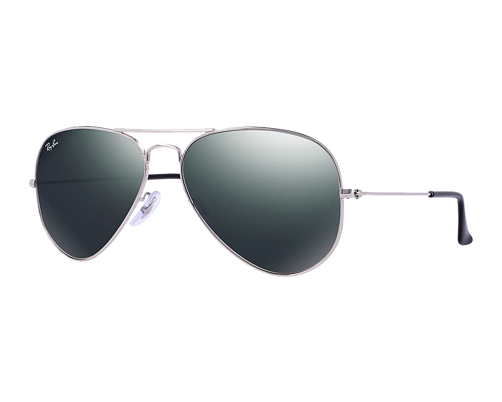 Ray Ban Aviator Silver Crystal Grey Mirror W3275