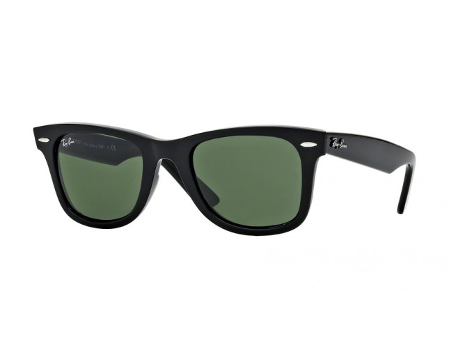 Ray-Ban Original Wayfarer Black Crystal Green