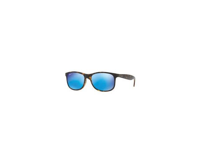 15cc593c3d Ray-Ban Andy Shiny Havana-Dark Brown Mirror Blue Polar - RB4202 710 ...
