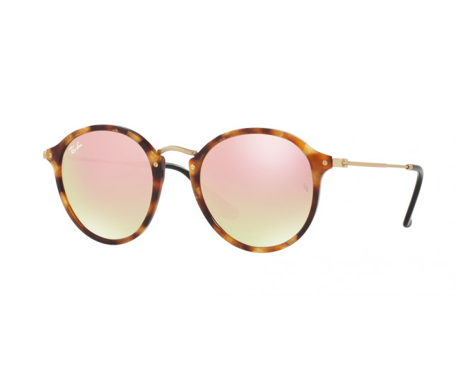 c712a97b40 Ray Ban Round Fleck Spotted Brown Havana Copper Flash Gradient. Ra  Indisponible jour