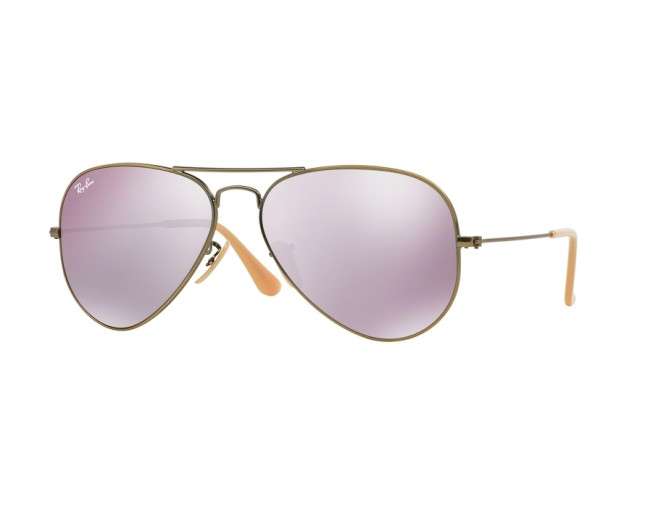 a98c00d2b3a91 Ray-Ban Aviator Demiglos Brusched Bronze Lila Mirroir - RB3025 167 ...