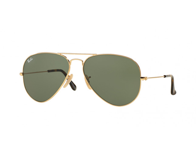 Ray-Ban Aviator Gold Crystal Dark Green - RB3025 181 - Sunglasses ... 994d7e1eba