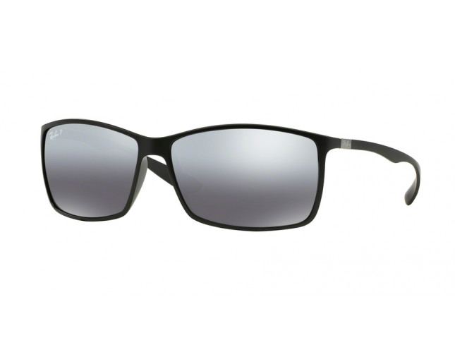 2ddf65714f1 Ray-Ban RB4179 Liteforce Matte Black Plastic Gray Mirror Silver ...