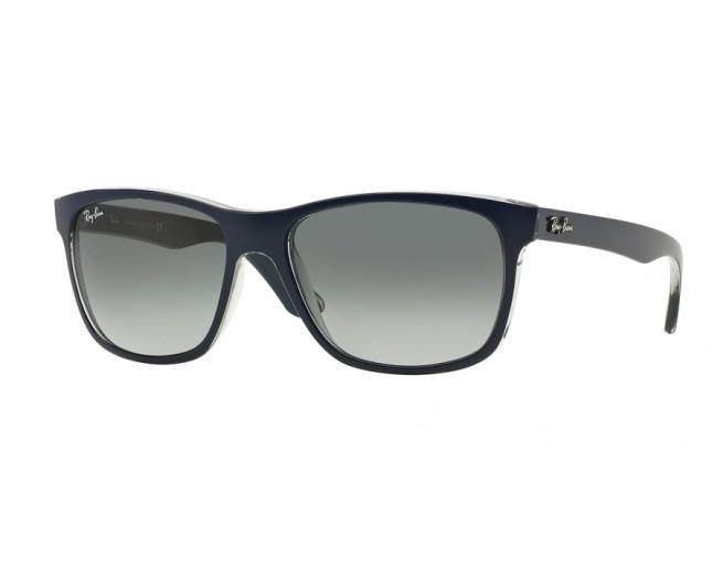 df0d688427 Ray-Ban RB4181 Top Matt Blue on Transparent Grey Gradient Grey ...