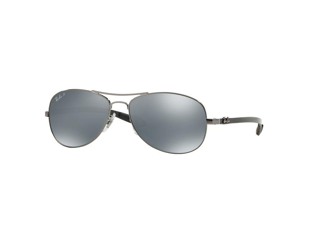 15b2ce71141 Ray-Ban RB8301 Shiny Gunmetal Crystal Blue Mirror Silver Polar ...