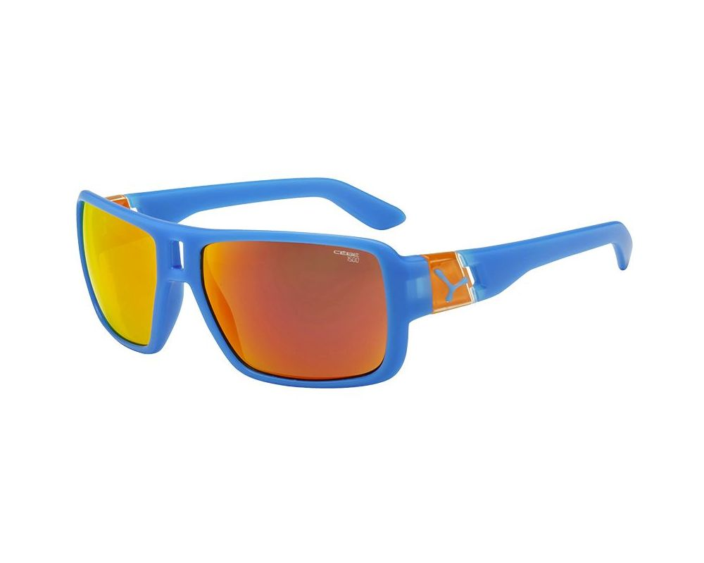 Cébé L.A.M Matt Blue Orange Cebe 1500 Grey With Orange Flash Mirror ... 193b2b885265