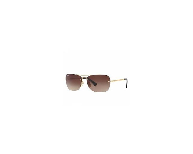 d281a24ec8 Ray-Ban 3541 Gold Brown Gradient - RB3541 001 13 - Sunglasses - IceOptic