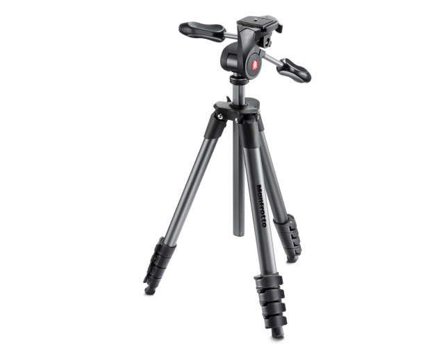 Manfrotto Trépied Compact Advanced Noir + Rotule 3D