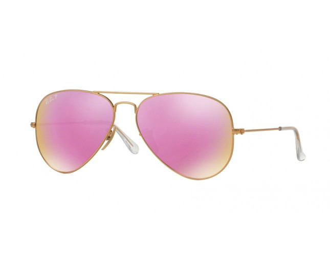 a7b388dd414 ... Matte Gold Polarized Pink Mirror. RB3025 112 1Q. Ray-Ban Aviator Flash  Lenses RB3025 112 17