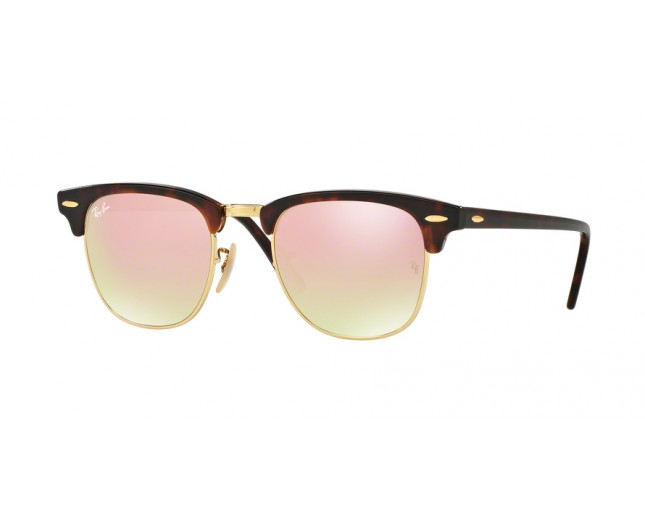 14735dc0cc Ray-Ban Clubmaster Shiny Red Havana Crystal Pink Flash Gradient ...