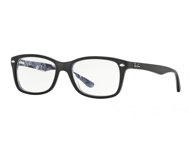 802aa8ac67ffb Ray-Ban RX5228 Top Mat Black On Texture Camouflage - RX5228 5405 o ...