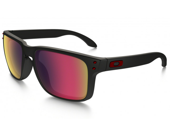 Oakley Holbrook Matte black-Positive red iridium - OO9102-36 ... fc08c0a48b54