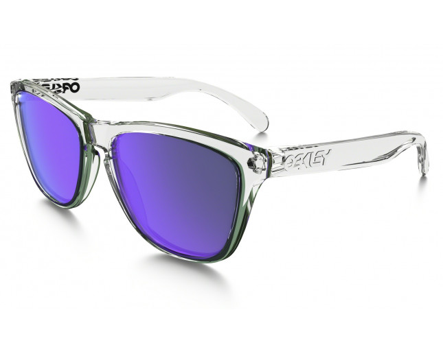 Oakley Frogskins Polished clear-violet iridium - 24-305 - Lunettes ... f0439cdc05be