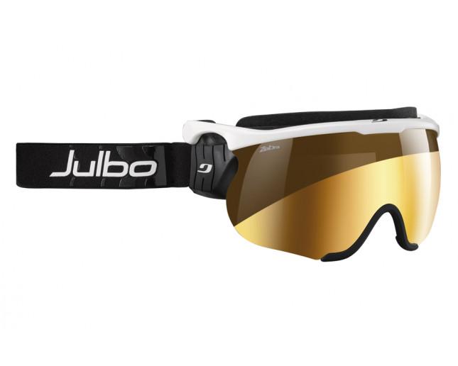 Julbo Sniper L Blanc/Noir Zebra Flash Or