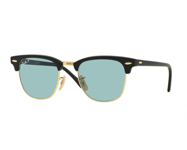 e80178d765 Ray-Ban Clubmaster Matte Black Polar Sky Blue - RB3016 901S 3R ICE ...