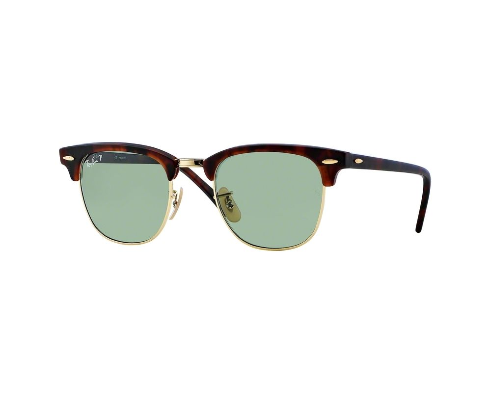 da514626b3c1cb Ray-Ban Clubmaster Brown Green Polarized - RB3016 1145 O5 ICE ...