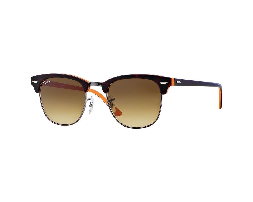53da436973 Ray-Ban Clubmaster Top Dark Havana On Orange Gunmetal Crystal Brown ...