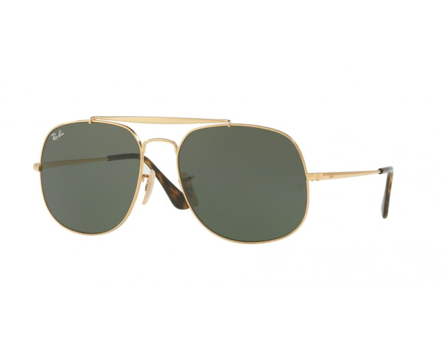 Ray-Ban The General RB3561 Gold Green Lenses - RB3561 001 - Lunettes ... 072f51d501dd