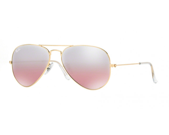 4611b6677f3a9 Ray-Ban Aviator Large Gold Crystal Brown Pink Silver mirror - RB3025 ...