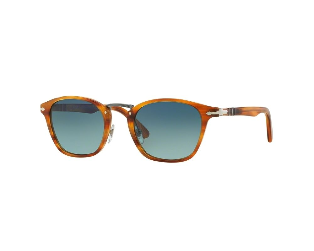 Typewriter Edition Gradient Persol Brown Light Blue Polarized Striped 35RL4jA