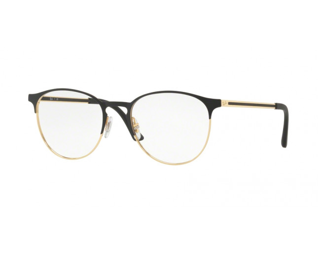 Ray-Ban RX6375 Gold Top In Black - RX6375 2890 - Lunettes de vue ... 6a0a65c5f60a