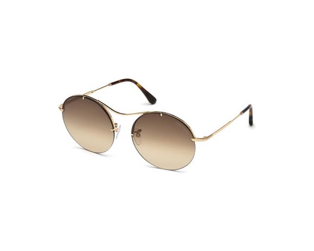 113674b33d75fc Tom Ford Veronique-02 Shiny Gold Rosé Brown Smoke - TF0565 28F ...