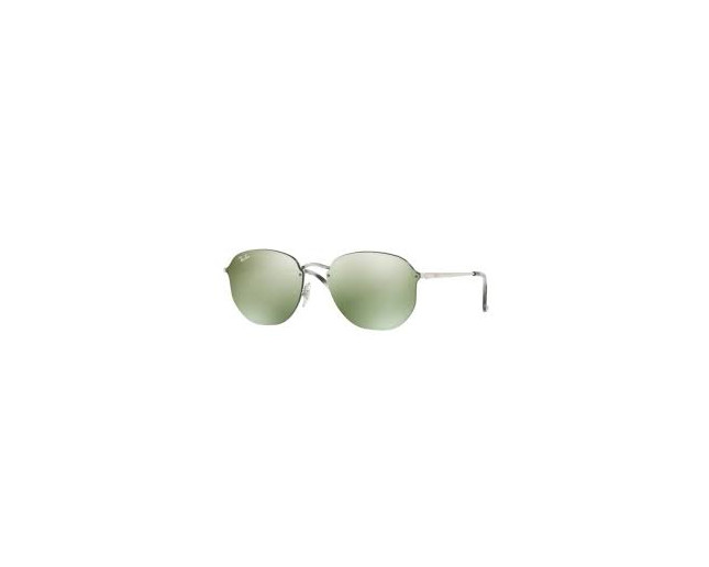 0360e8cd280 Ray-Ban Blaze Hexagonal RB3579N Silver-Dark green mirror silver ...