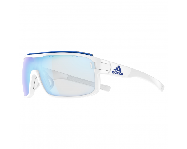 pensión Problema Gasto  Adidas Zonyk Pro AD02 S White Shiny Vario Blue Mirror - AD02 00-6057 -  Sunglasses - IceOptic