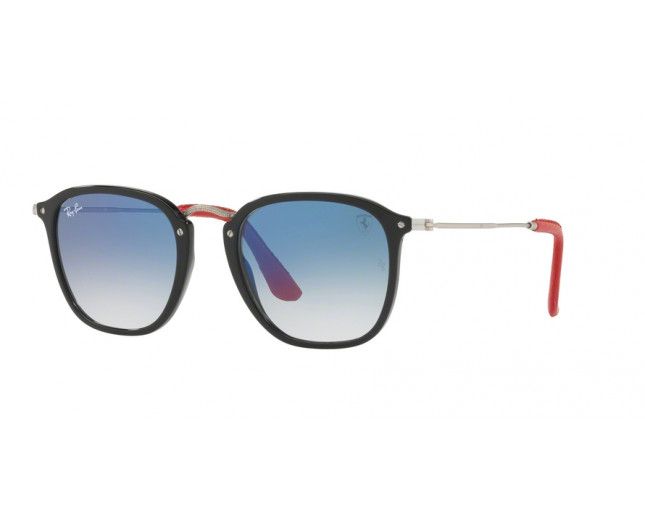Ray Ban Rb2448nm Scuderia Ferrari Collection Black Blue Gradient Rb2448nm F601 3f Sunglasses Iceoptic