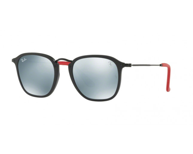 ray ban hexagonal ferrari black