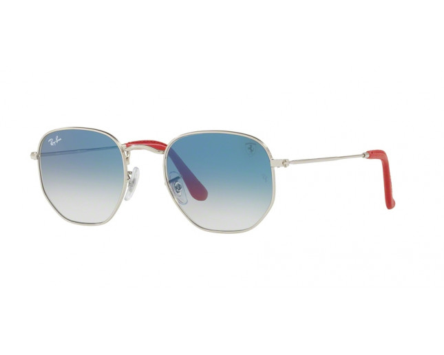 5e72166683 Ray-Ban Hexagonal Scuderia Ferrari Collection Silver Blue Gradient ...