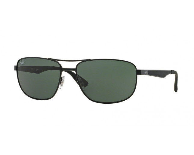7fd6ab83d4 Ray-Ban RB3528 Matte Black Plastic Green - RB3528 006 71 ...