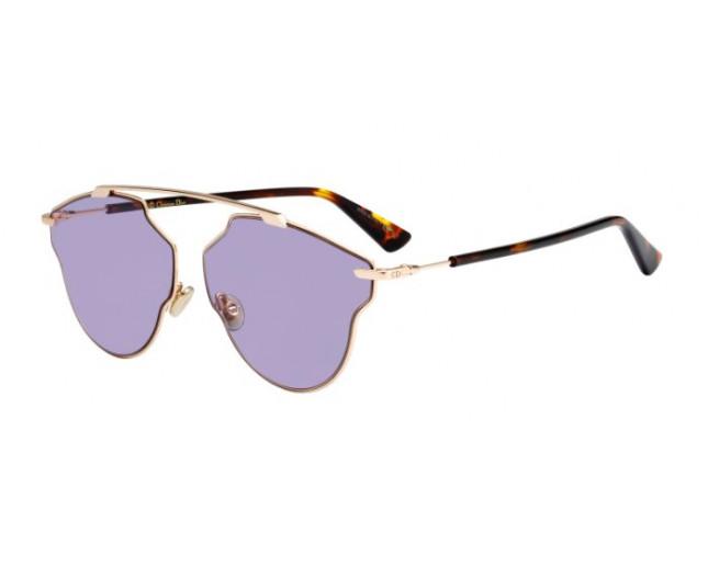Dior Soreal POP Gold Havana Purple Lenses - 200585 06J U1 - Lunettes ... 271fa6b9b44